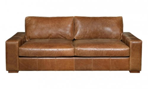Barrington 3 Seat Leather Sofa