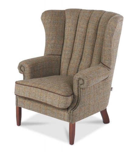 Heritage Kennedy Armchair - Gamekeeper & Leather FT