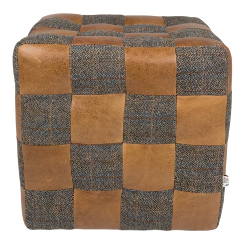 Heritage Patchwork Footstool - Uist/Brown Cerato Mix