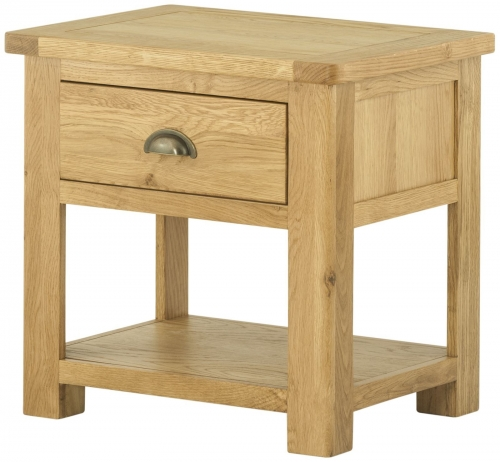 Brompton Oak 1 Drawer Lamp Table