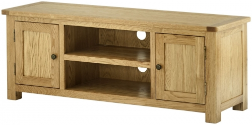 Brompton Oak Large Tv Unit