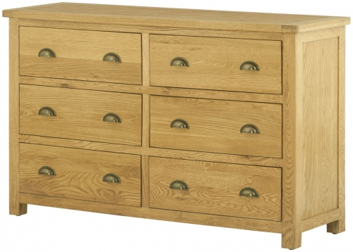 Brompton Oak 6 Drawer Chest