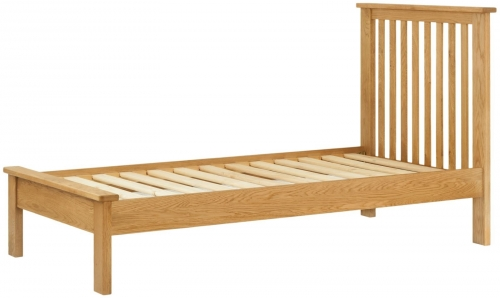 Brompton Oak 3'0 Single Bed