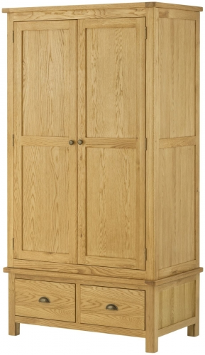 Brompton Oak Gents Wardrobe