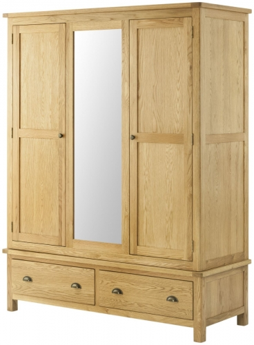 Brompton Oak Triple Wardrobe