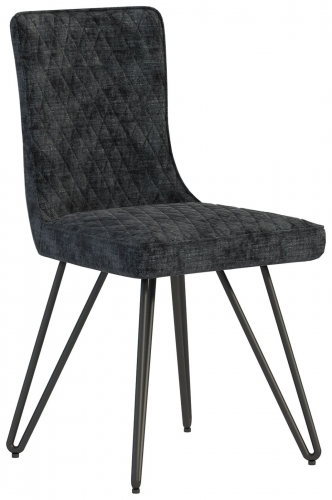 Telford Industrial Quilted Dining Chair