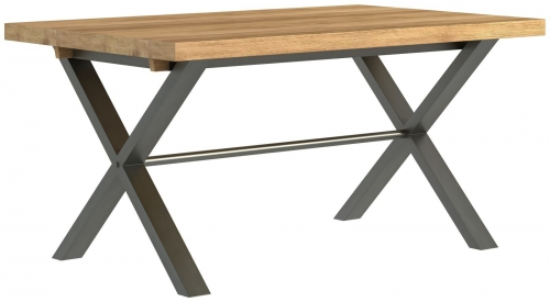 Telford Industrial Oak Small Dining Table