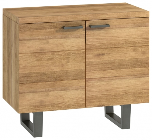 Telford Industrial Oak Small 2 Door Sideboard