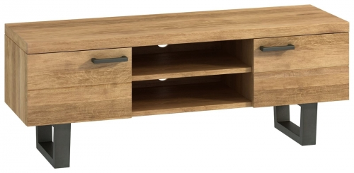Telford Industrial Oak TV Unit