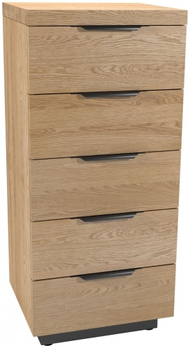 Telford Industrial Oak 5 Drawer Chest