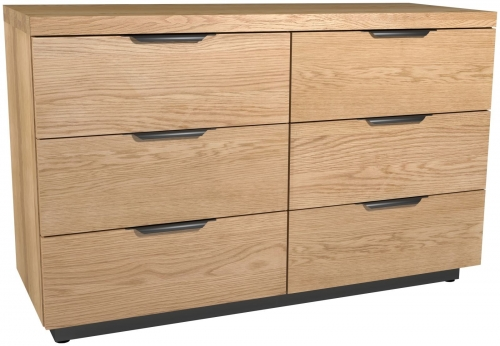 Telford Industrial Oak 6 Drawer Chest
