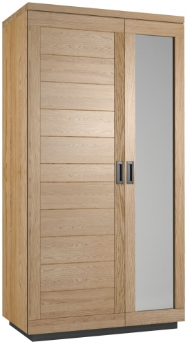 Telford Industrial Oak Double Wardrobe