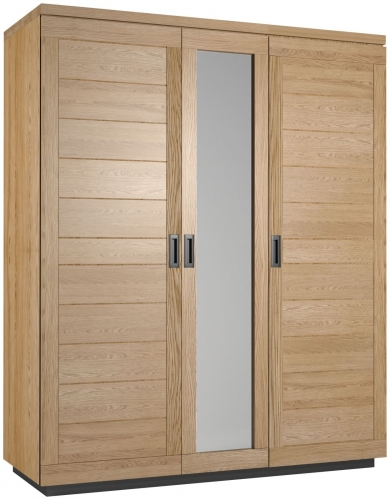 Telford Industrial Oak Triple Wardrobe