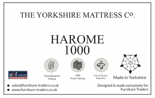 Harome 1000 Pocket  3ft Single Mattress