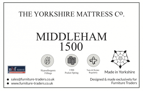 Middleham 1500 Pocket 5ft King Size Mattress