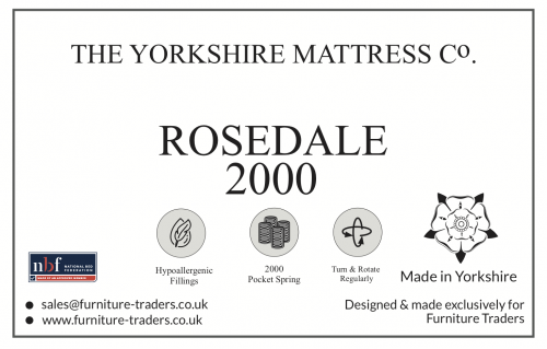 Rosedale 2000 Pocket 3ft Single Mattress