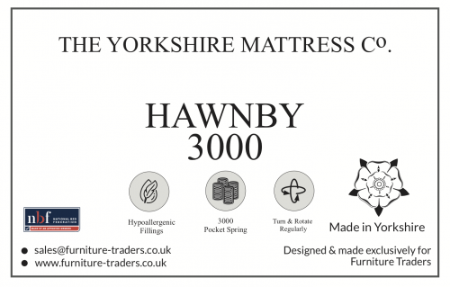 Hawnby 3000 Pocket 5ft King Size Mattress