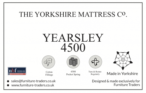 Yearsley 4500 Pocket 5ft King Size Mattress