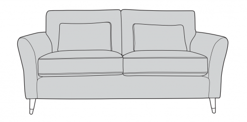 Milan Fabric 2 Seater Sofa