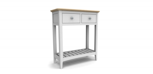Devon Grey Painted 2 Drawer Console Table
