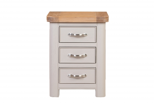 Leyburn Grey Painted 3 Drawer Bedside