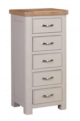 Leyburn Grey Painted 5 Drawer Chest