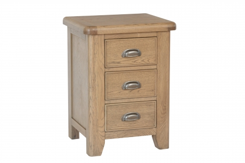 Milby Grey Oak Large Bedside Cabinet