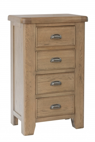 Milby Oak 4 Drawer Tall Chest