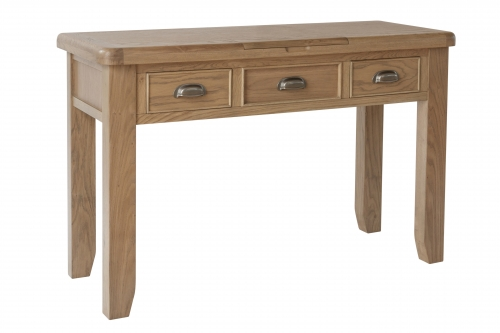 Milby Grey Oak Dressing Table With Hidden Mirror