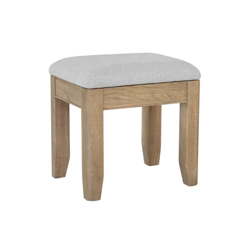 Milby Oak Dressing Table Stool With Hidden Compartment