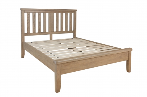 Milby Oak 4'6 Double Bed