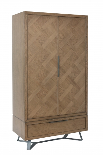 Detroit Parquet Oak 2 Door Wardrobe