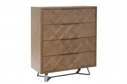 Detroit Parquet Oak 4 Drawer Chest
