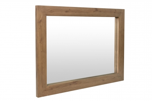 Detroit Parquet Oak Wall Mirror
