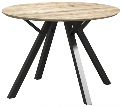 Brooklyn Industrial Round Dining Table