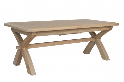 Milby Grey Oak 2m Cross Leg Dining Table