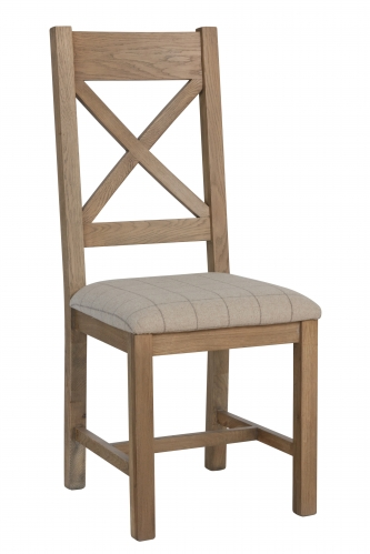 Milby Cross Back Dining Chair- Natural Check