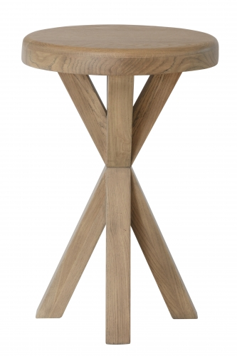 Milby Grey Oak Round Side Table
