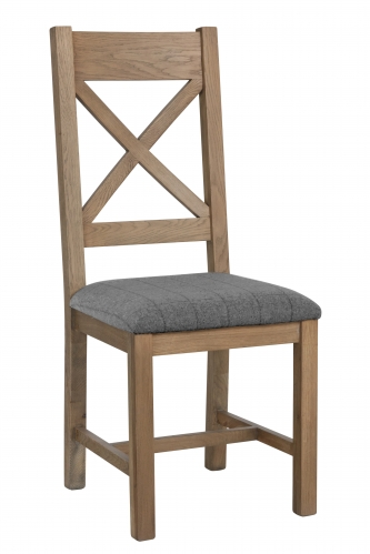 Milby Cross Back Dining Chair- Grey Check