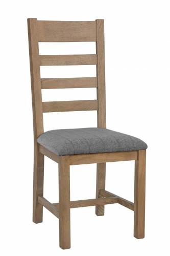 Milby Slatted Dining Chair- Grey Check