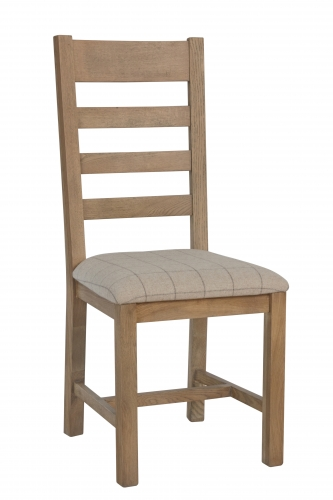 Milby Slatted Dining Chair- Natural Check