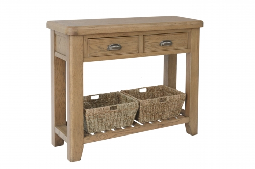 Milby Oak 2 Drawer Console Table