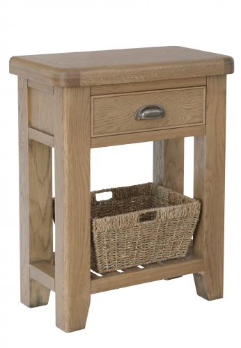 Milby Oak 1 Drawer Console Table