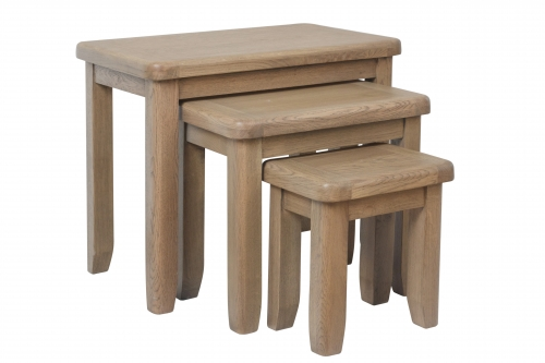 Milby Grey Oak Nest of Tables