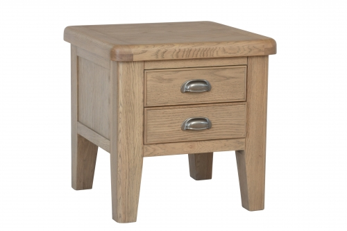 Milby Grey Oak Lamp Table