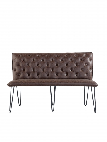 Detroit Industrial Medium Bench - Brown