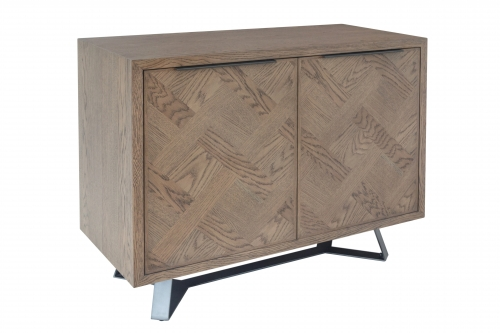 Detroit Parquet Oak 2 Door Sideboard