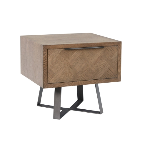 Detroit Parquet Oak Lamp Table