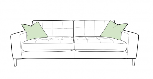 Como Fabric Extra Large Sofa