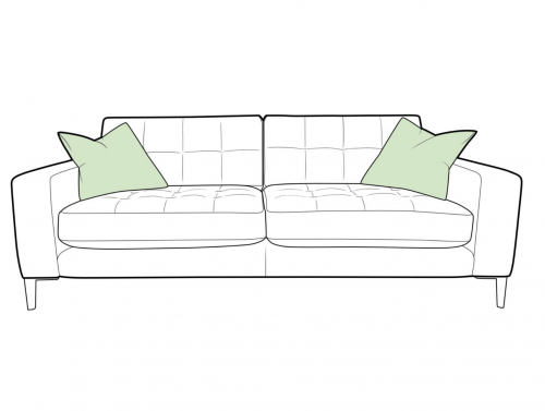 Como Fabric Large Sofa